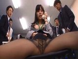 Japanese Girl Gets So Turned On Over The Phone That She Completely Forgot She Is At Work In A Office Full Of Her Colleag