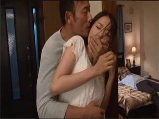 Poor Japanese Husewife Natsume Saiharu Gets Roughly Fucked By Her Husbands Boss At Their House While He Was In Bed