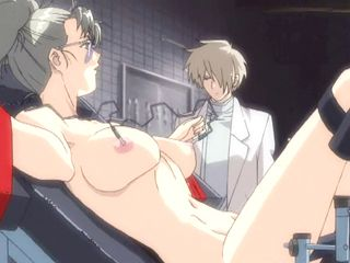 Chained Hentai Gets Electric Shock And Dildoed Wet Pussy