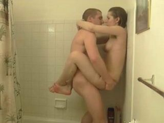 Horny Teen Fucks Her BF In The Shower