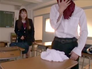 Japanese Schoolgirl Caught Her Classmate Sniffing Her Panties He Found In Her Bag
