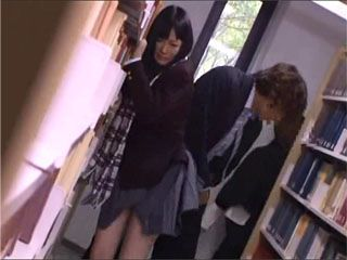 Japanese Schoolgirl Gets Ravished In A School Library