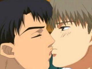 Two Hentai Guys Having Hot Night Kiss