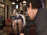 One Of The Guests In A Bar Couldnt Resist To Jump On Japanese Waitress Ai Uehara