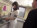 Young Japanese Maid Was Coocking When Her Horny Employer Entered The Kitchen And Attacked Her