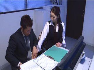 Busty Japanese Secretary Hina Akiyoshi Hardly Waited To Be Finally Left Alone With Her Boss In His Office