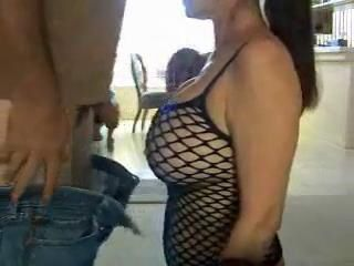 Busty Wife Gets Face Fucked