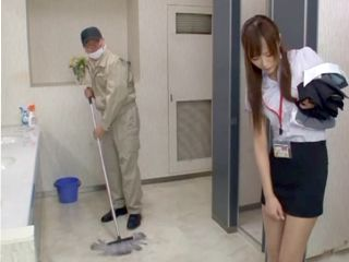 Janitor Decided To Make A Move On A Young Japanese Employer With A Short Skirt
