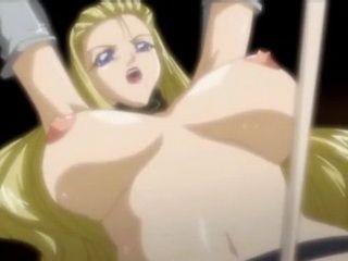 Tied Busty Hentai Girl Riding A Hard Cock