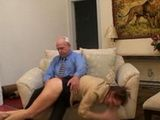 Old Man Spanked Mature Woman xLx
