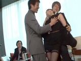 Busty Japanese Secretary Wish She Never Came To Work That Day