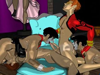 Hentai Gay Hunk Group Gangbanged And Cummed