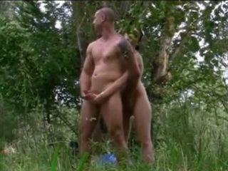 Nudist Girl Has Sex With 3 Guys In The Forest