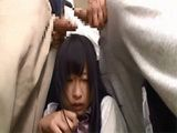 Japanese Teen Gets Fucked In A Bus Full Of People By Bunch Of Guys