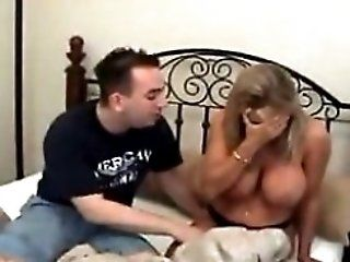 Blackmailed Mom Gets Cornered By Her Awful Sons Friend