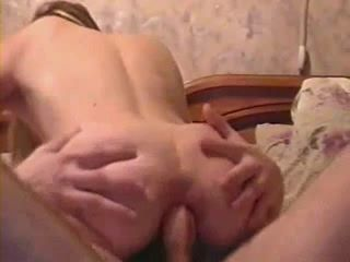 Amateur Wife Rides Hubbys Cock With Her Asshole and Gets Anal Creampie