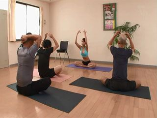 Busty Yoga Instructor Kurea Hasumi Have Fun With Her Students