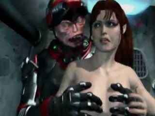3D Alien Monsters Take Experiments Over Abducted Human Milf
