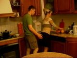 Blonde Milf Stepmom Gets Swooped and Fucked In Kitchen