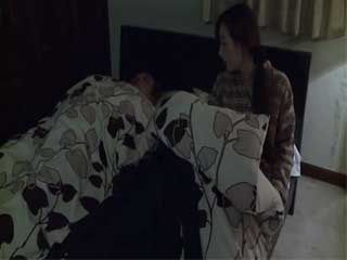 After Her Old Husband Fall Asleep Cheating Wife Maki Azusa Sneaks Out Of The House To Fuck Her Lover