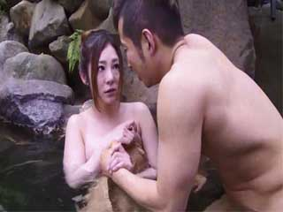 Busty Hatsune Minori Gets Swooped And Roughly Fucked By Husbands Brother At Spa Center