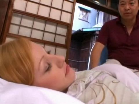 Sleeping American Busty Milf Will Have Very Unpleasant Awakening In Japan