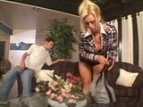 Cougar Milf Amber Lynn Seduce and Fuck Teenage Cable Guy