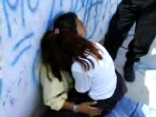 Amateur Teenagers Busted By The Police Fucking In Public