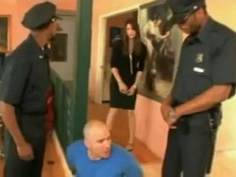 Wife Of Arrested Guy Gets a Good BBC Anal Law Lesson From Cops - Bobby Starr
