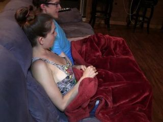 Amateur Teen Gets Horny While Watching A Movie With Her Friend At Her Home