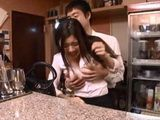 Waiter Couldn't Hold Down Himself Anymore And Swooped Busty Bartender Colleague Shimizu Risa