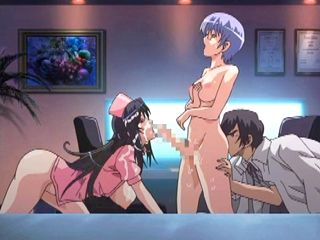 Shemale hentai nurse threesome hot poked