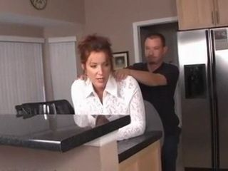 Giving Back Massage To Stepmom Makes Mom Feel Boner