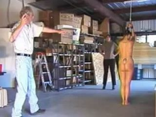 Tied Up Employee Punished With Whipping By Kinky Couple Who Caught Her Stealing