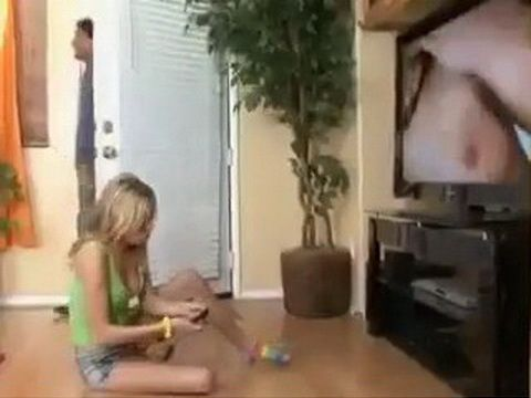 Teen Babysiter Finds Out That Her Boss Is Pornstar
