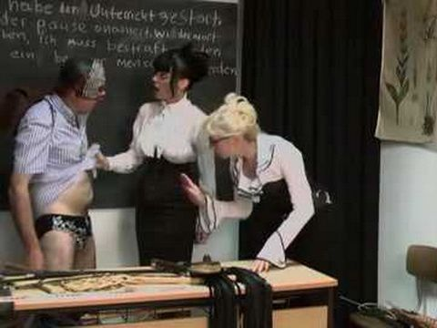 Disobedient Student Guy Gets Roughly Punished By Two Domina Milf Professores