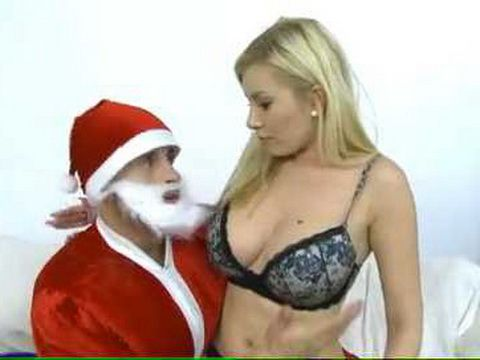 Santa Has Special Present For Busty Blonde Teen Ass