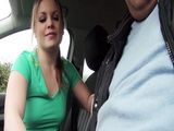 Damn hot teen Alessandra Jane gets her pussy banged in doggystyle in order to pay ride home