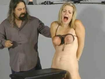 Poor Blonde Girl Gets Tied Up And Tormented