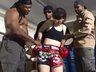 Tiny Boxing Girl Will Regret Deeply For Messing Around With Three Aggressive Black Guys