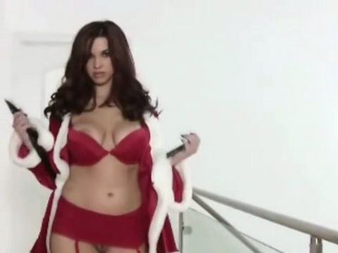 Sizzling Hot Santa Helper Waiting Christmas Eve In Good Mood