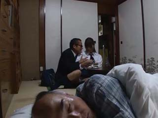 Old Fart Allegedly Came To Visit His Sick Friend But In Fact He Just Wanted To Fuck His Teenage Daughter Konno Hikaru