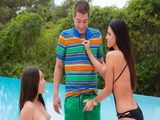 Stepmom India Summer gets busted by Lola Foxx boyfriend and they have threesome
