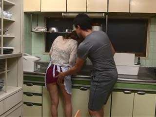 Hot Maid Kitagawa Erika Gets Swooped in The Kitchen By Bosses Filthy Friends Who Made Her to Give Them a Head