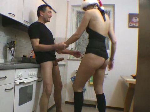 Amateur Couple Spiced Up Christmas Eve With Kitchen Sex