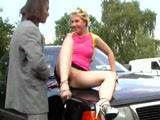 Guy Pick Up Slutty Bitch From The Street And Fuck Her In A Public Park