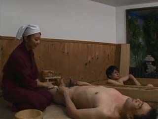 Busty Masseuse Had Hard Time To Handle With Two Horny Punks At Spa Center