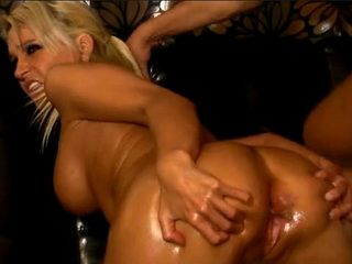 Fantastic Busty Blonde Gets Fucked In The Tight Ass And Cum On Tits