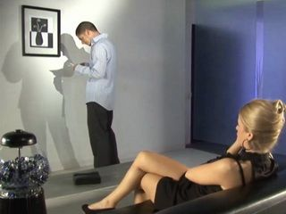 Busty Blonde Fucked In An Art Gallery