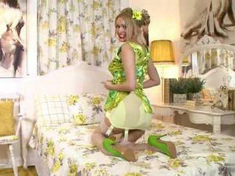 Blonde in Hot Lingerie Masturbating